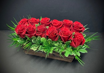 Pave' Dozen Roses from Catoosa Flowers in Catoosa, OK