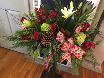 Woodsy Christmas Bouquet from Catoosa Flowers in Catoosa, OK