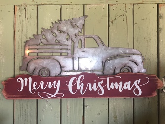 Vintage Truck Christmas Sign  from Catoosa Flowers in Catoosa, OK