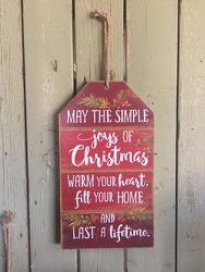 Christmas Gift Tag Simple Joys from Catoosa Flowers in Catoosa, OK