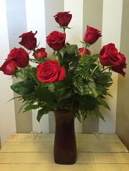 Dozen Roses Arranged in Vase from Catoosa Flowers in Catoosa, OK