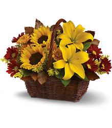 Golden Days Basket from Catoosa Flowers in Catoosa, OK
