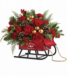 Vintage Sleigh Bouquet from Catoosa Flowers in Catoosa, OK