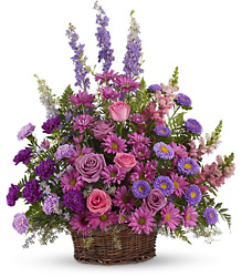 Gracious Lavender Basket from Catoosa Flowers in Catoosa, OK