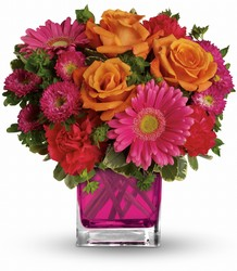 Turn Up The Pink Bouquet from Catoosa Flowers in Catoosa, OK